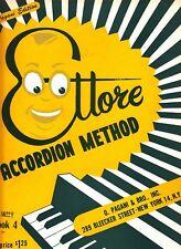 Ettore Accordion Method Book 4 Pagani Edition 1955 Music Book
