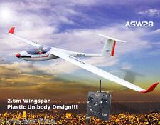 Volantex asw28 Glider RC RTF Hélice Plane Model avec Moteur Antigrav ESC Battery