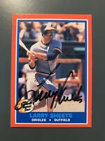 1987 Fleer Hottest Stars #36 Larry Sheets Autographed Card Baltimore Orioles