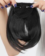 US Real Thick Straight Bang Clip in on Fringe Hair Extensions as Human Hairpiece