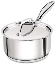 2 Quart Sauce Pan With Lid Stainless Steel Induction Compatible 18 x 9 cm
