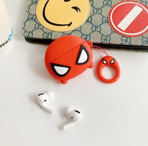 Cute Silicone Airpod Pro Case, Airpod 3,Drop, Scratch & Dust Resistant Spiderman
