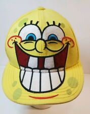 SPONGEBOB Baseball Cap Size  Adult S/M Square Pants Face Yellow Nickelodeon Used
