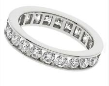 2.00ct F VS1 Brilliant Cut Diamond Full Eternity / Wedding Ring, Solid Platinum