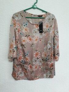 size 22 dusky pink flowered top from F&F BNWT