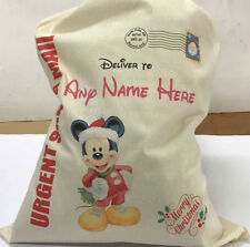 Personalised Mickey Mouse Christmas Sack Extra Large 75cm x 50cm Boys or Girls