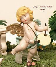 "Fontanini Depose Italy 2.75"" Drummer Boy Cherub Ceramic Tone Nativity Angel New"