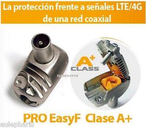 Pack 10 Conector PRO EasyF A+ Acodado MACHO TELEVES 413210 Cable coaxial Antena