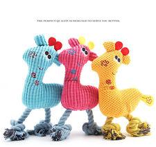 Funny Pet Dog Puppy Chew Squeaker Squeaky Plush Sound Giraffe Training Toys AY