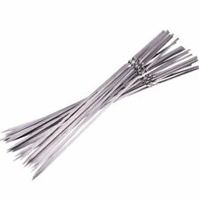50 Pack 15 Inch Stainless Steel Flat Shish Kebab BBQ Skewers Grill Sticks Picnic