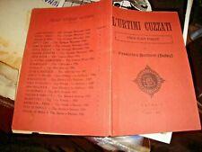 L'URTIMI CUZZATI VERSI ITALO FORZATI di F. BUCCHERI (BOLEY) - CATANIA 1937
