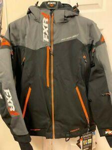 FXR M Renegade X Snowmobile Snow Jacket Black Charcoal Orange, Size S