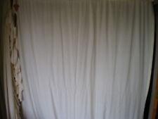 """1 LEFT CROSCILL VTG IVORY Shabby Chic Country Curtain Ruffle Farmhouse 76X86"""""""