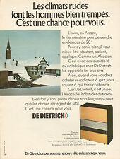 Publicité 1972  Radiateur à gaz DE DIETRICH  chauffage