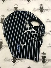 Promo Pinstripe Latex Zipper Mask Hood SMALL/MEDIUM Westward Bound  0.33mm