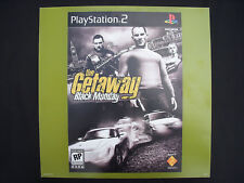 ⭐️THE GETAWAY Black Monday Video Game Poster Store Display 16X16 PLAYSTATION 2⭐️