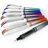Uni-Ball UB-187S Rollerball Pen – 0.7mm Needle Point – 1 of Each Colour - 7 Pens