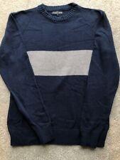 TWISTED SOUL HERITAGE size L blue grey stripe knit jumper knitwear streetwear