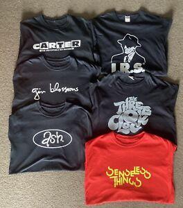6 X Band T SHIRTS Lot Carter USM Senseless Things ASH Three O'Clock IRS Records