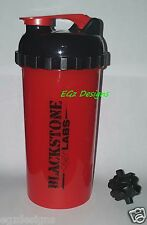 ** BLACKSTONE LABS ** RED SHAKER CUP ** GREAT for Protein, Creatine, Pre-workout