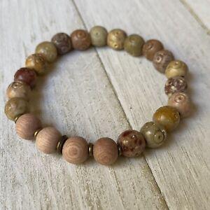 Min Favorit Essential Oil Diffuser Bracelet Carved Soapstone & Rosewood Beads