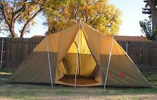 Vintage Camel M340 Large Cabin Tent ~ 14 x 10 x 6.5'H ~ Nice! ~ 8-10 Person ~158