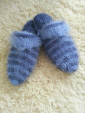 New-Hand-knitted-mohair-FETISH-SLIPPERS-Fuzzy-handmade-Soft-leg-Wormers
