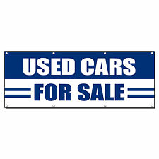 USED CARS FOR SALE AUTO BODY SHOP Banner Sign 4 ft x 2 ft /w 4 Grommets