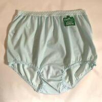 NWT Pretty Aqua Carole Lace Trim Nylon Panties. Size 7