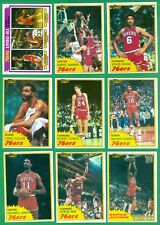1981-82 TOPPS PHILADELPHIA 76'ers  TEAM SET NM/MT  CHEEKS x2  JONES  ERVING x3