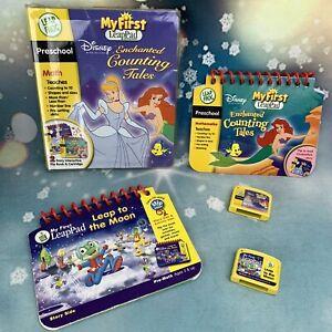 My First LeapPad Leapfrog Flip Book Cartridge Lot 2 Games. Disney Princess Moon