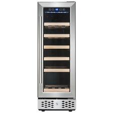 18 Bottle Single Zone Built-in Compressor Freestanding Wine Cooler Refrigerator