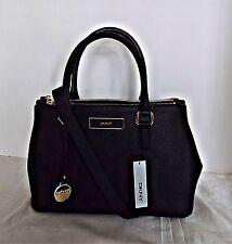 DKNY - Saffiano Leather Satchel / Shoulder Bag - Black