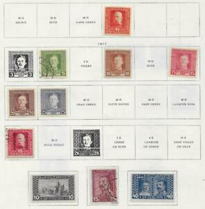 10 Bosnia & Herzegovina Stamps from Quality Old Antique Album 1916-1917
