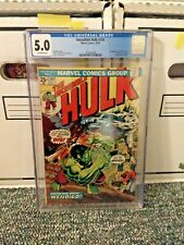 The Incredible Hulk 180 5.0 CGC OWW 1st Appearance Wolverine in Cameo Marvel
