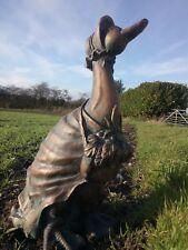 Jemima Puddle Duck Peter Rabbit Garden Ornament Statue Bronze Effect 2 Day Post