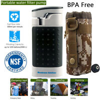 Portable Water Filter Pump Outdoor Water Purifier Camping Travel Emergency Tool