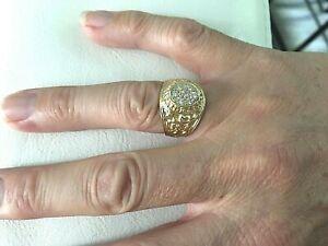 bague americaine US NAVY or 18 carats 750°/°°, 9,55 grs, Diamants, neuve