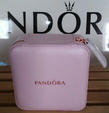 AUTHENTIC PANDORA JEWELRY LIMITED EDITION PINK ZIP AROUND ORGANIZER TRAVEL CASE