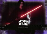 Star Wars Rise of Skywalker Series 1 PURPLE PARALLEL Base Card #65 - DARK REY