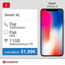 Apple iPhone X mit Vertrag Vodafone Allnet Flat und 11GB Internet LTE 51,99€ mtl