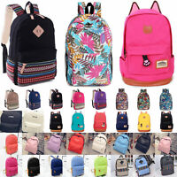 Unisex Rucksack Backpack Work School College Travel Shoulder Bag Casual Satchel