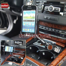 Long Car Cell Mount Bend+USB+Cigarette Port/Outlet Fit Samsung Galaxy S Duos