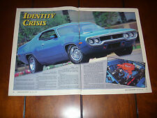 1972 PLYMOUTH ROAD RUNNER GTX    - ORIGINAL 1992 ARTICLE