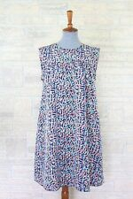 Nusy Smock Shift Dress Relaxed Cap Sleeve Colorful Size Med - Pockets, Lined