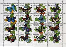GUYANA- Butterflies,1 M/Sh., MNH**,CW 323