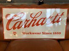 Carhartt Advertising Display Sign NOS  Vintage Workwear Overalls