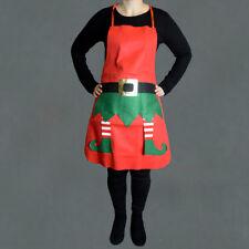 Felt Elf Apron Santa Christmas Buckle and Belt Legs Festive Party Dress Up Chef