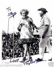 PHYLLIS DILLER Hand Signed 8 x 10 B & W Photo. Signed to Steve. Authentic