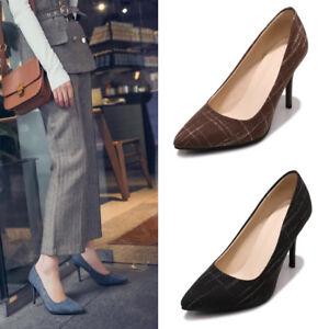 Women's Ladies Stilettos Pumps High Heels Office OL Comfy Party Shoes Slip on